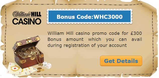 #williamhill   #casino   #promo  code for £300 #casinobonus amount which you can avail during registration of your account.  Claim Now: http://www.casinoswithbonus.co.uk/william-hill-casino-bonus-codes/