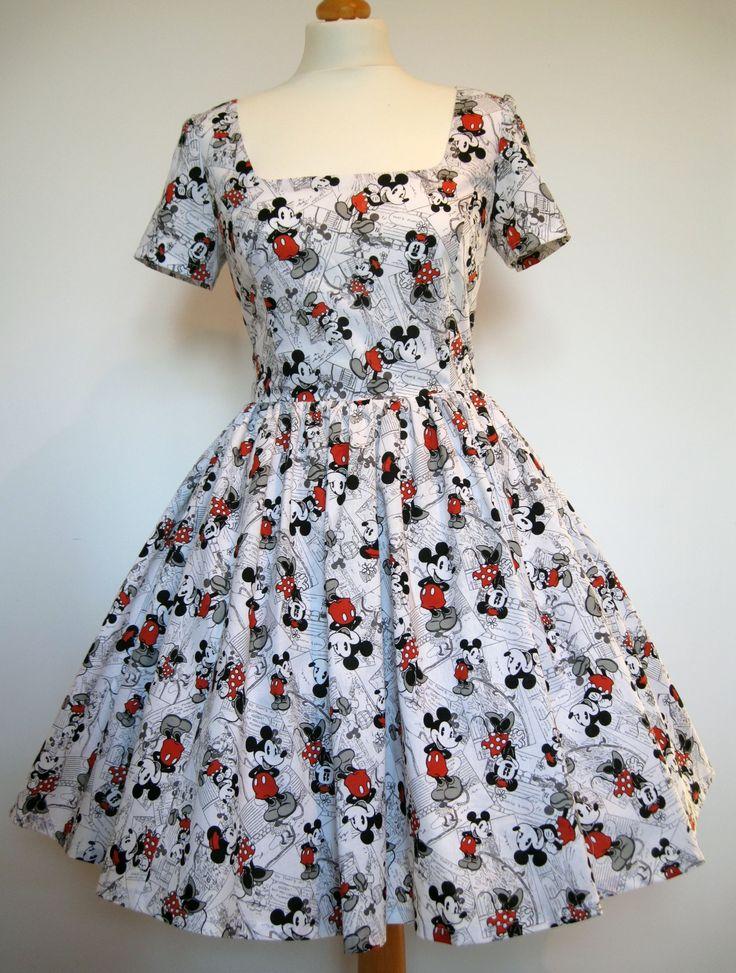 Mickey Mouse print dress