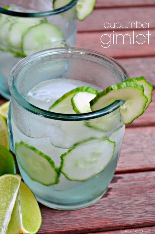 cucumber gimlet drink recipe #OceanPrime