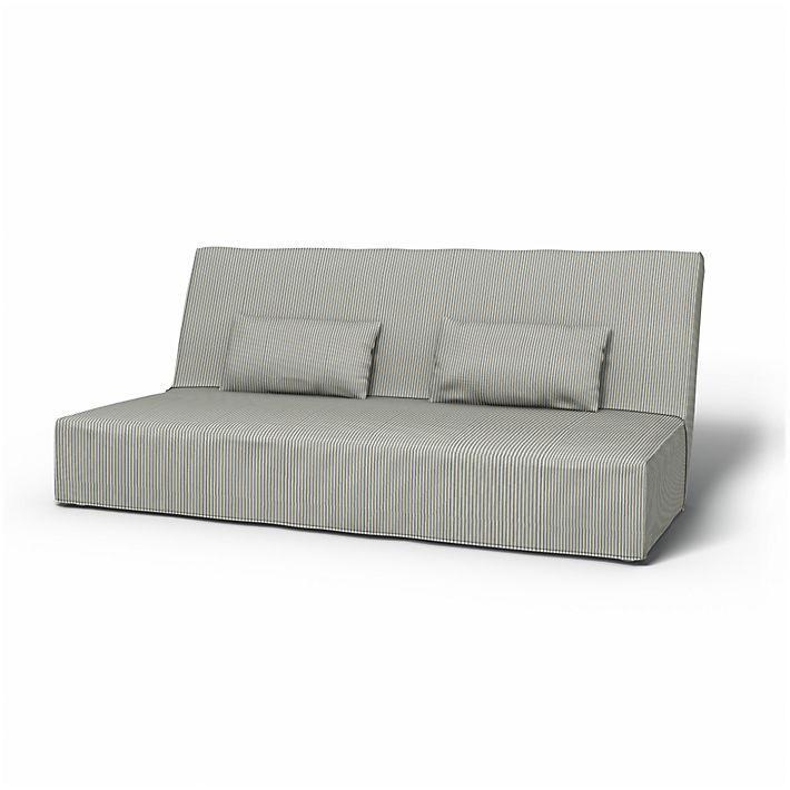 Beddinge, Sofabezüge, Bettsofa, Regular Fit bodenlang diesen Stoff anwenden Sandhamn Stripe Blue/White
