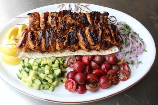 """Turkish Chicken Kebabs - Easy Grilled Chicken Kebab Recipe - enjoy """"the kind of succulent chicken you didn't even realize was possible"""" on the grill.  --- Video Tutorial"""