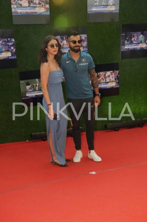 Lovebirds Anushka Sharma and Virat Kohli grab eyeballs at Sachin: A Billion Dreams' premiere