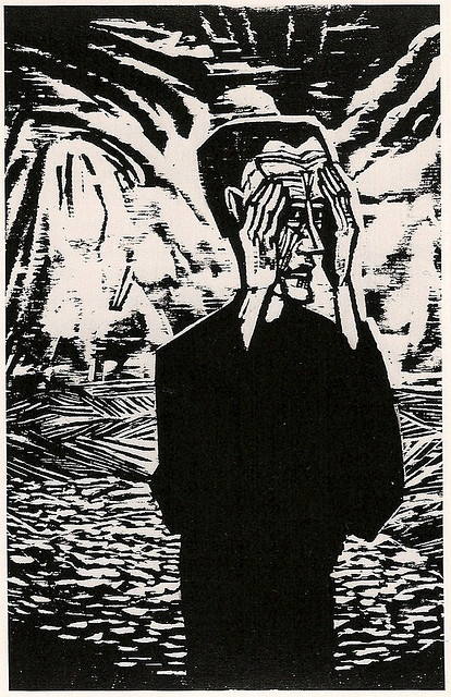 Erich Heckel, Man on a Plain, 1917