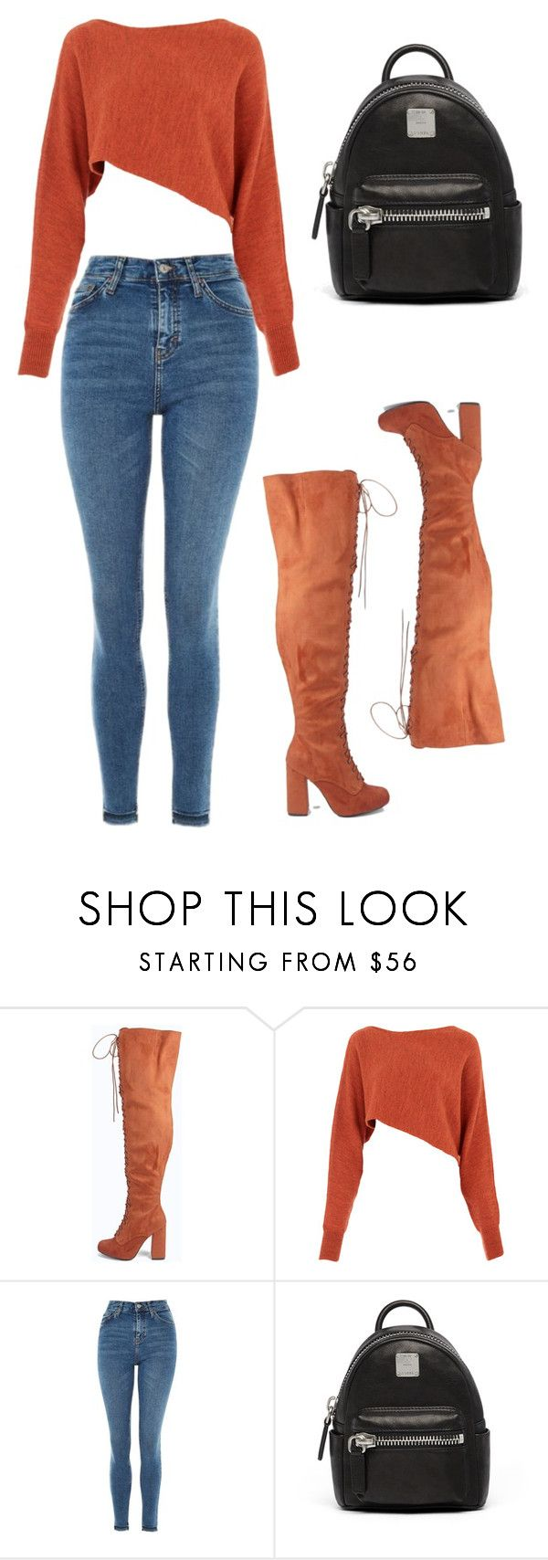 """""""Gyal you  party animal"""" by pao-v13 ❤ liked on Polyvore featuring Boohoo, Crea Concept, Topshop and MCM"""