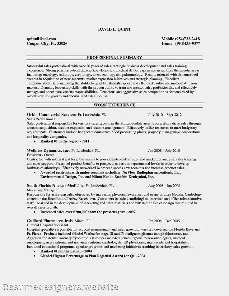 27 best Resume Cv Examples images on Pinterest Curriculum - territory sales manager resume