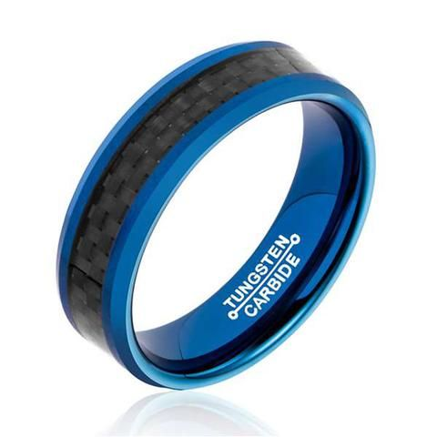 6MM Width Tungsten Carbide Mens Ring - Shop With Bitcoin