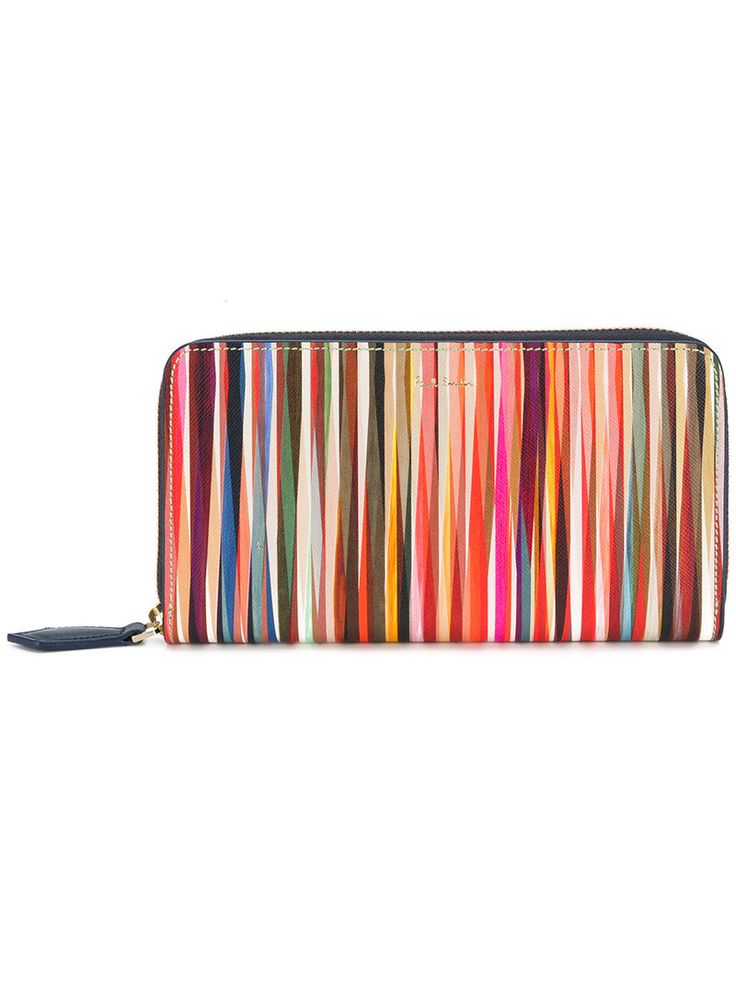 PAUL SMITH PAUL SMITH - 'CROSSOVER STRIPE' ZIP. #paulsmith #bags #leather #wallet #accessories #