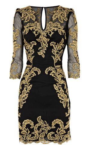Baroque Dress from Karen Millen with 3/4 length sleeve, that flatter any