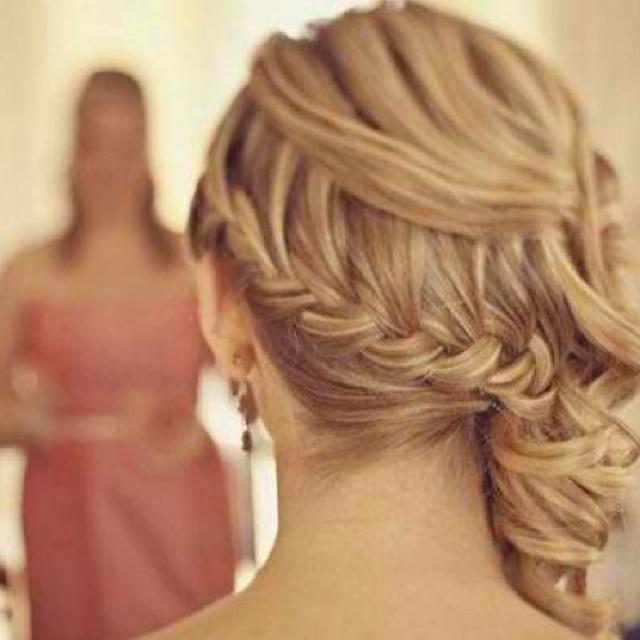 Hair for Janna's wedding