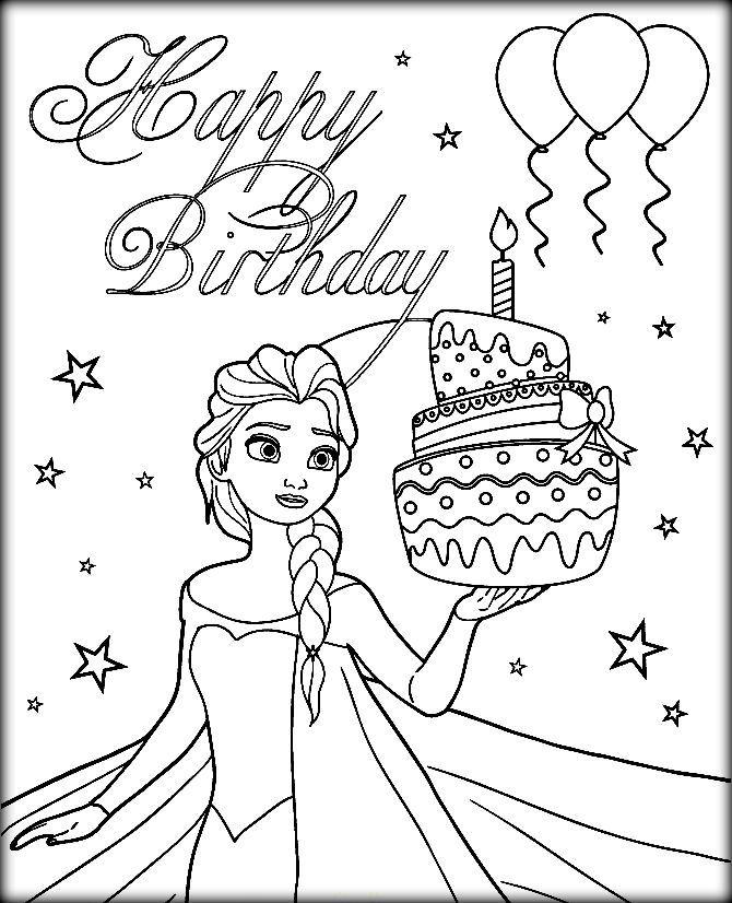 Disney Frozen Coloring Pages Elsa Let It Go Happy Birthday Coloring Pages Elsa Coloring Pages Birthday Coloring Pages