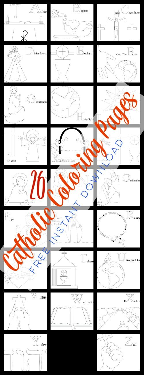 Catholic Alphabet Coloring Pages : Images about domestic church on pinterest