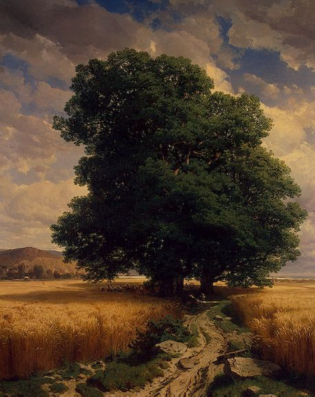 Landscape with Oaks, 1859, Alexandre Calame. Swiss (1810-1864)