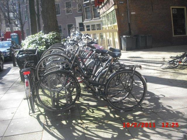 Those Dutch dudes love their bikes!