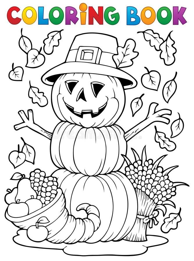 Coloring Book Thanksgiving Image 4 Eps10 Vector Illustration Sponsored Halloween Coloring Book Free Thanksgiving Coloring Pages Thanksgiving Coloring Pages