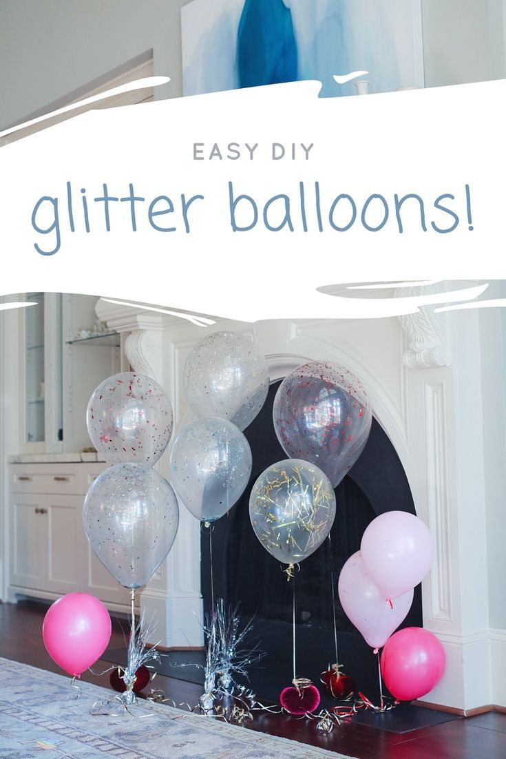 How to make balloons filled with confetti.