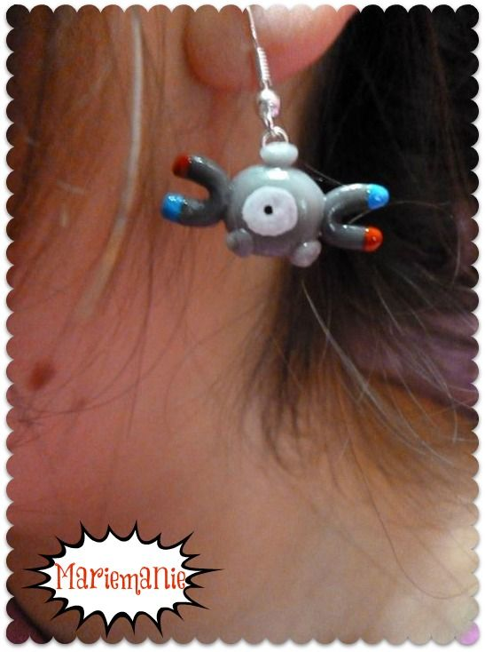 Magnemite earrings