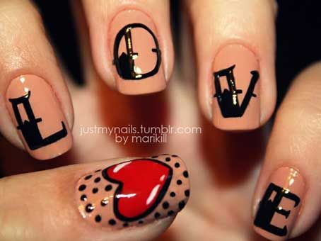 Sweet and Lovely Valentine's Day Nail Art Design Ideas