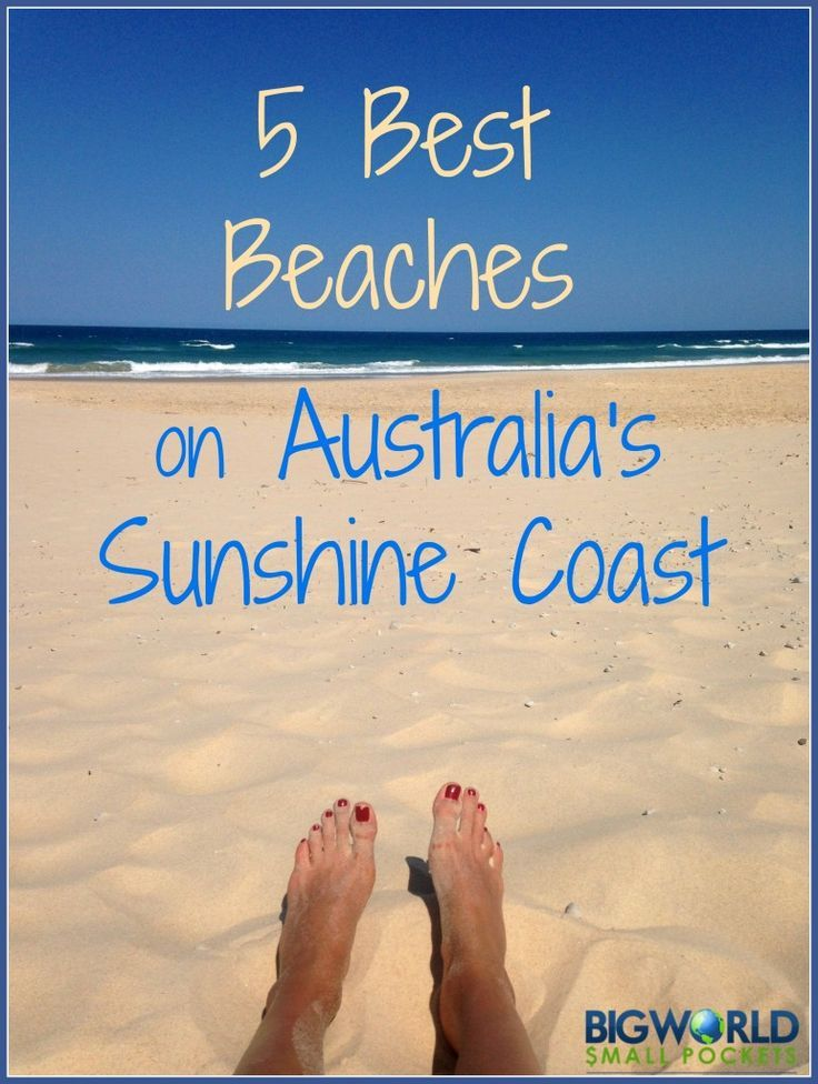 With some of the best beaches on the east coast of Australia, it was hard to pick my favourite from the Sunshine Coast. Finally having whittled it down to 5 - here they are {Big World Small Pockets}: