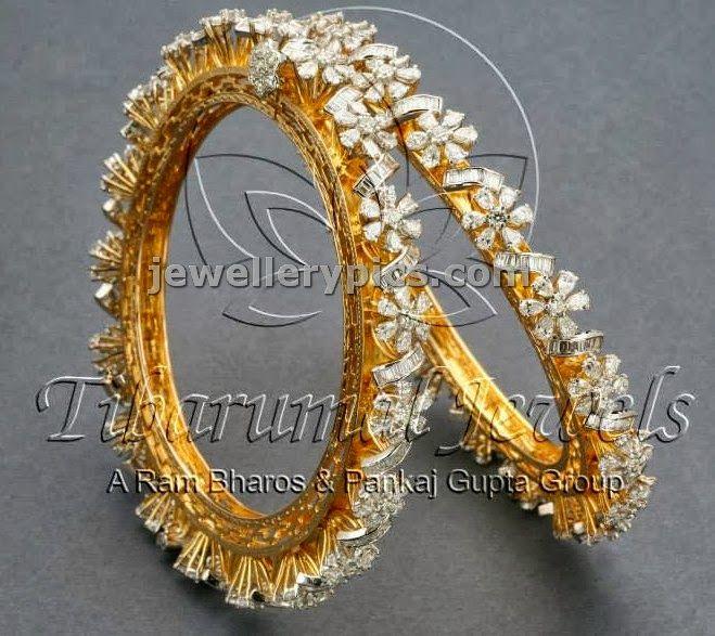 4 Diamond Bangle designs at Tibarumal jewellers - Latest Jewellery Designs