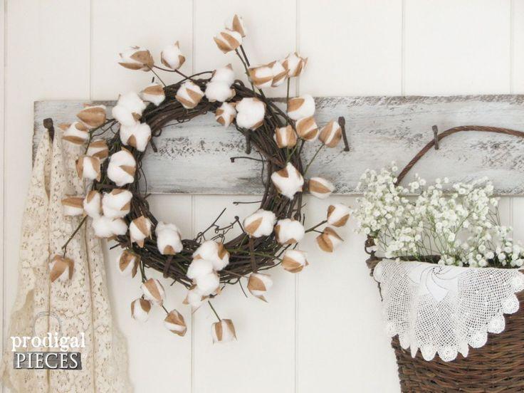 DIY Farmhouse Cotton Branches - A Video Tutorial by Prodigal Pieces www.prodigalpieces.com #prodigalpieces