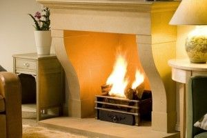 Windrush stone fireplace