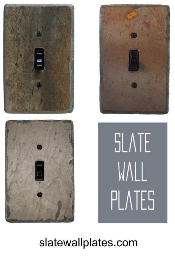 Slate Switch Plates And Outlet Covers Hand Crafted From Antique Reclaimed Vermont Slate D Light Switch Covers Diy Light Switch Covers Light Switch Plate Cover