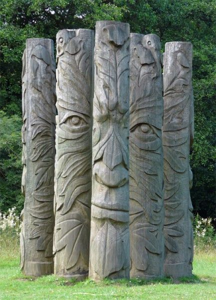 Green Man sculpture, Hamsterley Forest.  You know, for when I get a bunch of money of 1000% better at wood carving