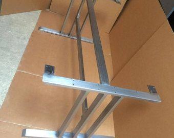 Base de mesa de comedor de diseño, robusta y resistente Base de mesa con 2 abrazaderas de acero