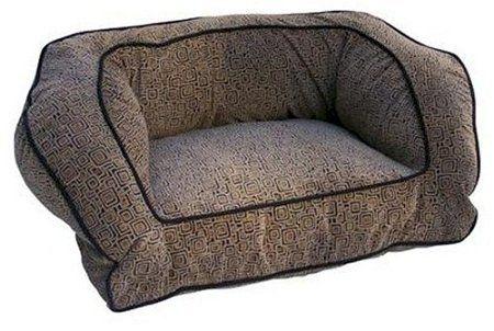 Snoozer Contemporary Pet Sofa, Medium, Black/Herringbone