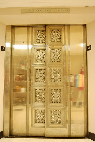The elevator doors at Kaufmann's department store - downtown Pittsburgh, Pennsylvania