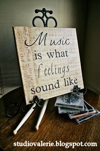Music is What Feelings Sound Like Canvas Art by PovertyBarn, $20.00.. love!!!  POVERTY BARN.. HA!!!