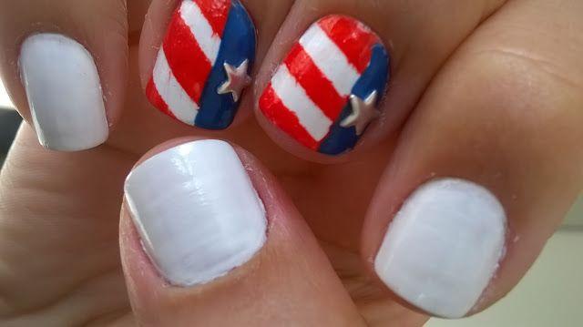 Conjecturas Femininas: Nail Art Bandeira dos EUA - Fourth of Jul