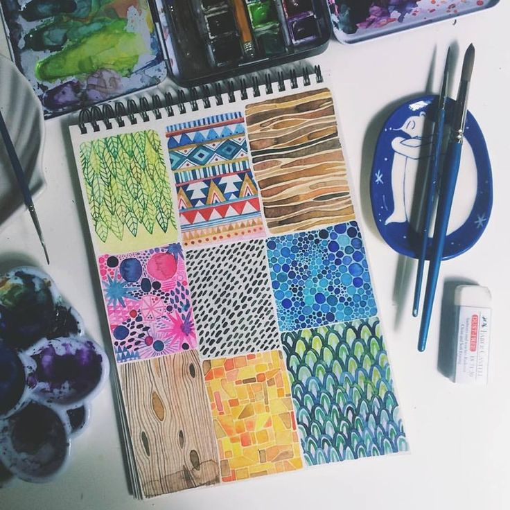 Sketchbook patterns by Ana Victoria Calderón, Sample Project #watercolor #art #painting