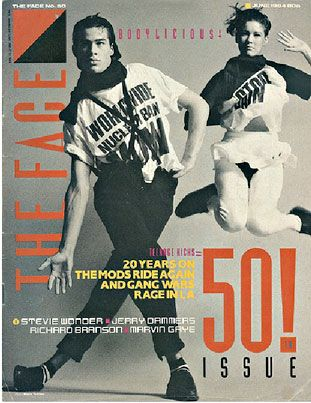 "Saw this while doing some random search on 80s magazine covers. Models on ""The Face""'s 50th issue, June 1984."