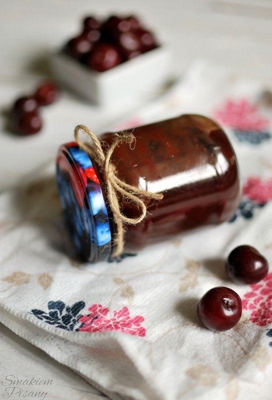 Czekowiśnia, czyli konfitura wiśniowa z czekoladą by Smakiempisany