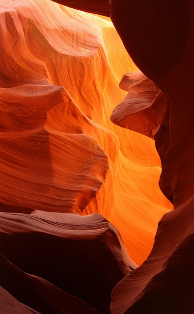 Lower Antelope Canyon is one of the most famous slot canyons in the world. It is located a few miles from Page, Arizona; visiting it is an otherworldly experience