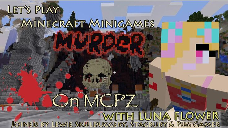 Let's Play Minecraft Minigames - More Murder on Minecraft Party Zone