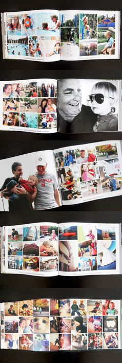 MyPublisher Family Photo Album page layouts from Preparingforpeanut.com