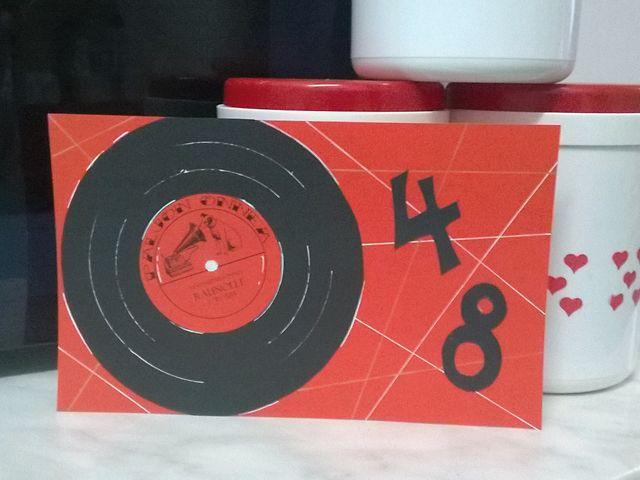 Sokkiksen räpellykset: Kaiken keskeltä Music card, card for a man, birthday card, vinyl record, diy