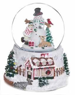 Large Snowman Musical Snow Globe…