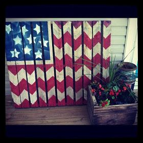 pallet flags. cute back drop for a block party. maybe a bail of hay and photo props in a galvanized bucket.