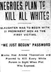 "Red Summer (1919) - On October 1, a race riot broke out in Elaine, Arkansas. Planters opposed the efforts of black sharecroppers to organize for better terms, and attacked them. In the riot they killed between 100 and 200 blacks. Arkansas Governor Brough's committee of prominent local white businessmen concluded that the Sharecroppers Union was ""established for the purpose of banding negroes together for the killing of white people."" The government convicted 79 blacks by all-white juries."