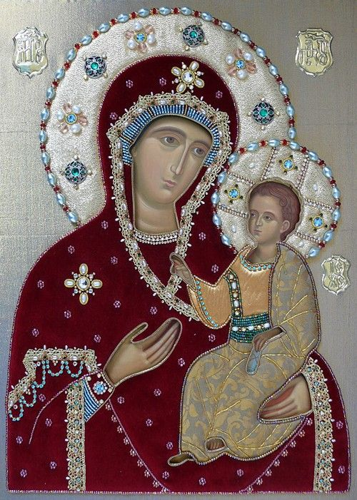 Mother of God the Quick to Hearken 2, to order, Catalog of St. Elisabeth Convent. About workshop: http://catalog.obitel-minsk.com/icon-casing-workshop  #icon #MotherofGod #Blessed #VirginMary #CatalogOfGoodDeed #christianity #orthodoxy #church #Mary #goldwork #inspiration #orthodoxcraft #SewnGoods #art #beauty #ecclesiastical #iconsinoklad # TextileOklads