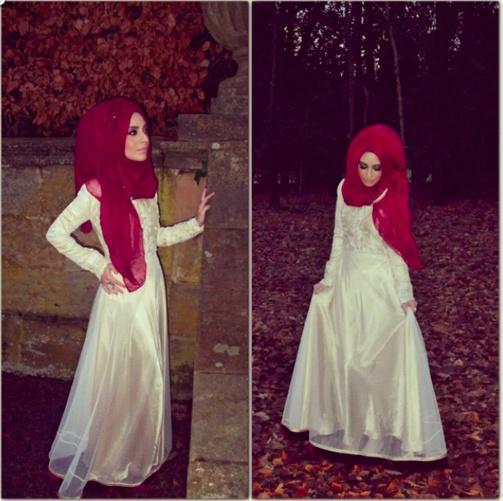 Pretty hijab+dress combo