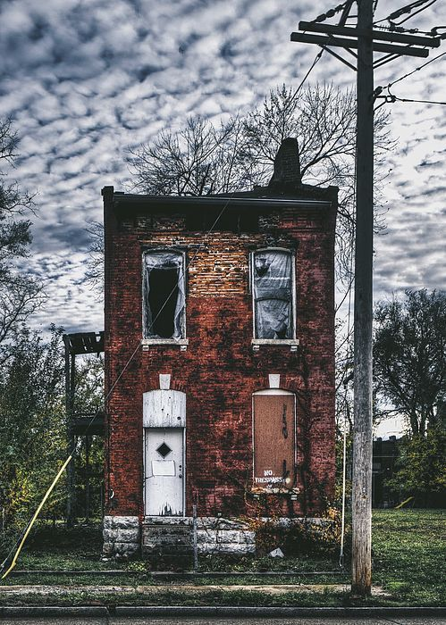 Abandoned House in Old North St. Louis City, MO. Architecture Photography.: