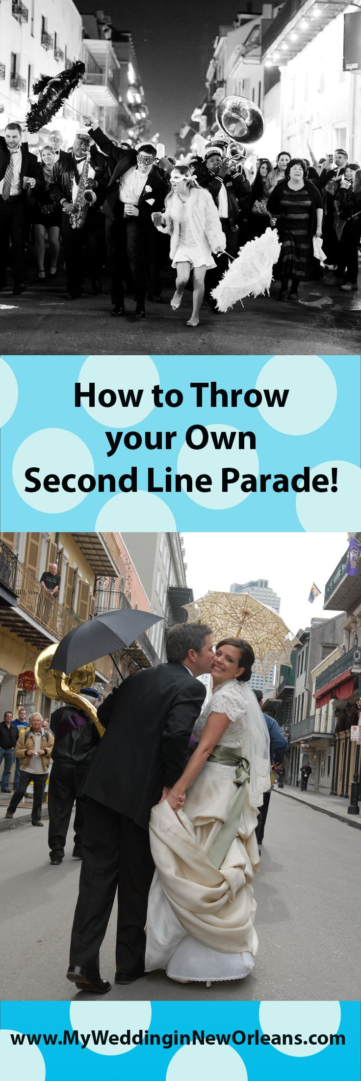 One of the most popular traditions during New Orleans weddings is the famous Second Line parade.