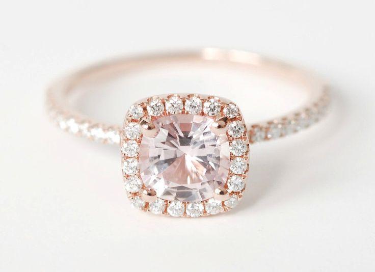 Unique Engagement Rings Halo Setting Handmade Weddings on Etsy 1