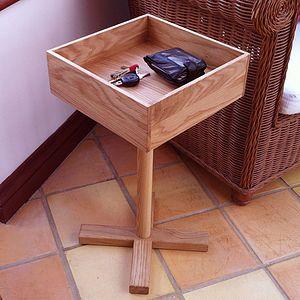 Man Drawer Oak Side Table