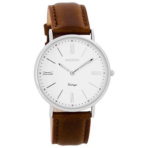 C7716 watch in silver/tan #redesignedbydixie #oozoo #watch #timefliesby #stylish #fashion #silver/tan #vintage