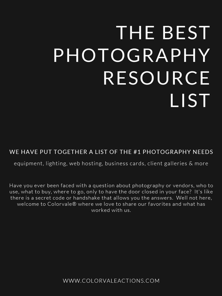 Photography Tips: The #1 list of photography resources that people don't like to share